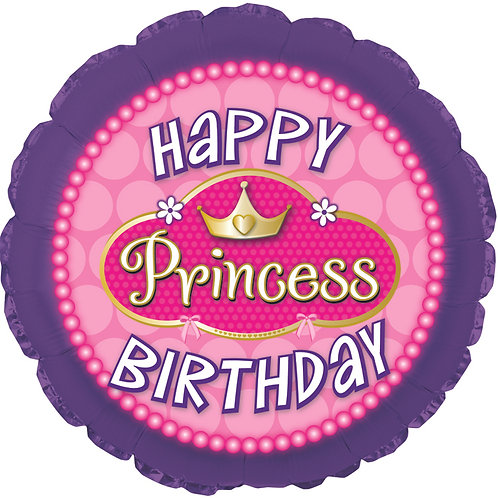 Happy Birthday - Princess Pink Pearls - 18 inches