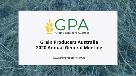 Grain Producers Australia 2020 AGM