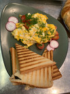 Rührei, Spiegelei, Cafe Salikum, Frühstück in Hannover den ganzen Tag,Frühstücksbuffet,