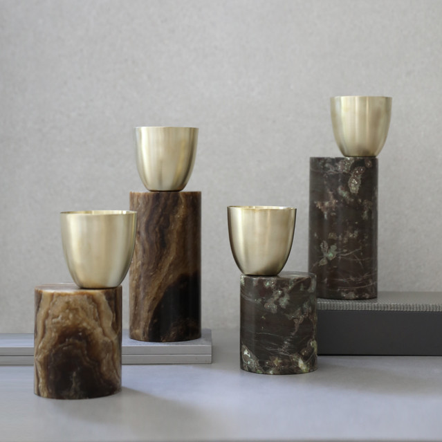 Marble Candle Holders Collection