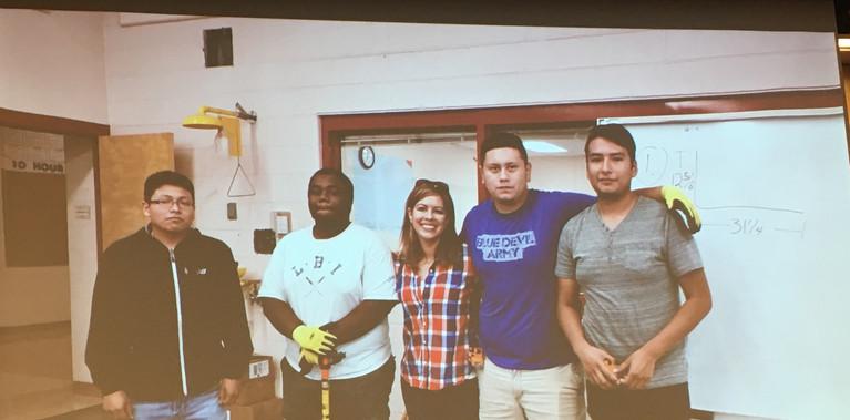 Ms. Rebecca with JATC students