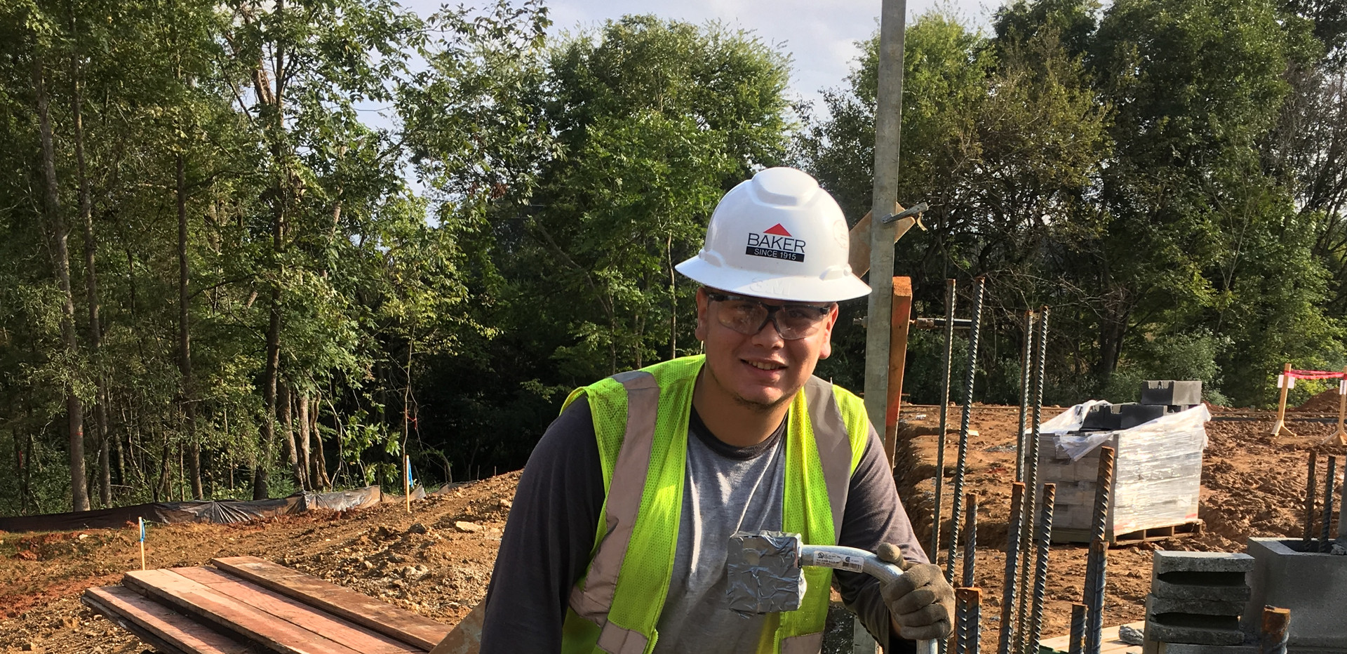 Cristian enjoying his new electrician career/employment with Baker Power