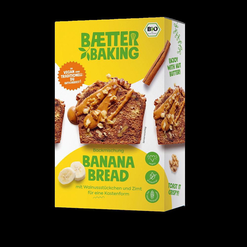 Backmischung für ein veganes, glutenfreies Bananenenbrot
