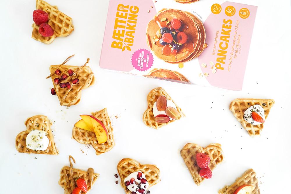 schneller und einfacher Waffelteig mit der Baetter Baking Pancakes Backmischung - glutenfrei und vegan