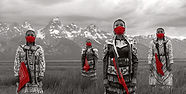 MMIW: Strength In Unity—this image is part of Art Heals: The Jingle Dress Project series by Eugene Tapahe,Tapahe Photography. This image was captured at the Grand Teton National Park in Wyoming, native land of the Shoshone, Bannock, Gros Ventre, and Nez Perce people.