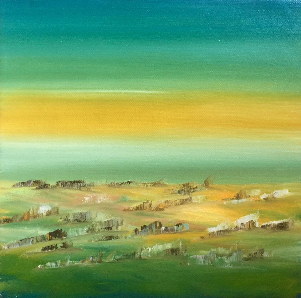 Sonorità in verde oil on canvas 20x20cm 2021.jpeg