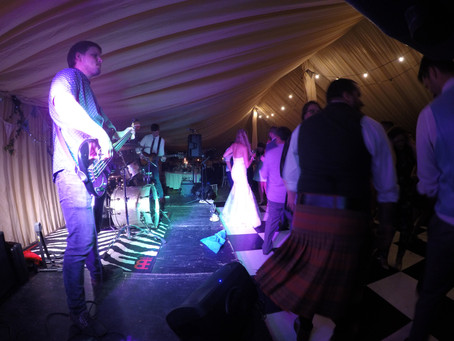 The Trio Perform At A 'Wet' Wedding In Luddington