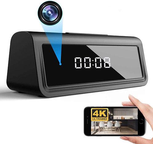 WOONZER 4K Clock Hidden Camera WiFi Spy Camera Nanny Camera