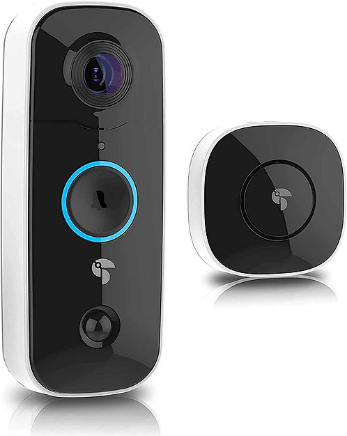 Surveillance Camera Doorbell, Rechargeable Camera Doorbell with Chime