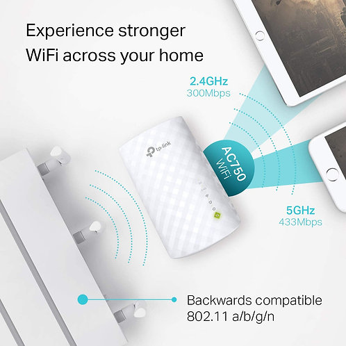 TP-Link AC750 WiFi Extender (RE220), Covers Up to 1200 Sq.ft and 20 Devices