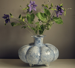 Tulpenvaas kobalt blauw