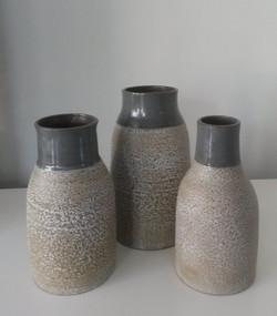 Vaas met structuur glazuur