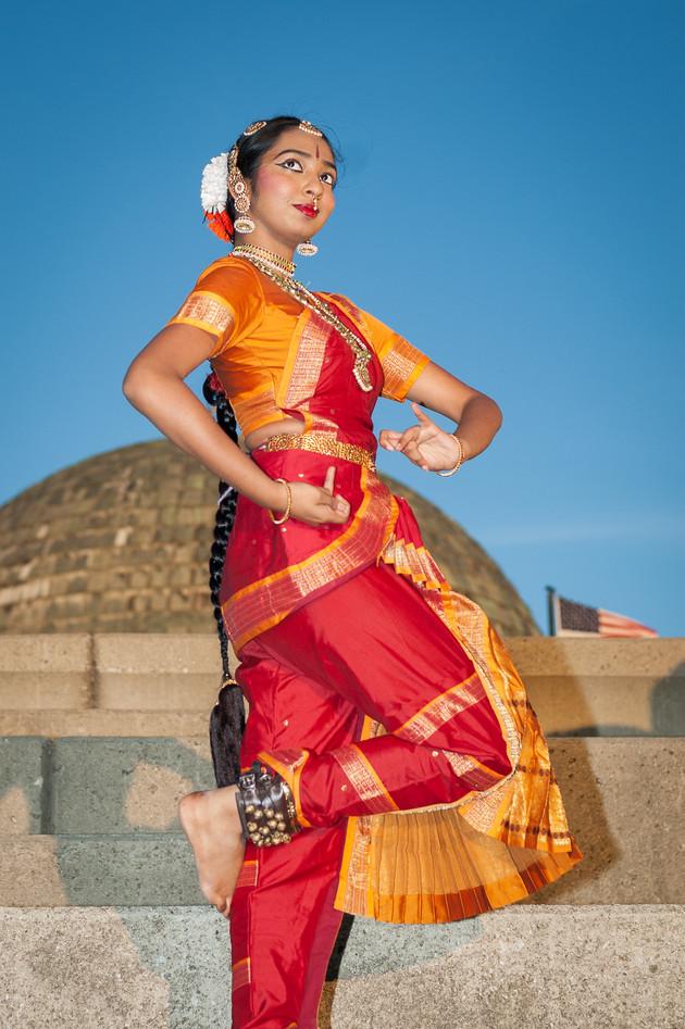 An Indian classical dancer
