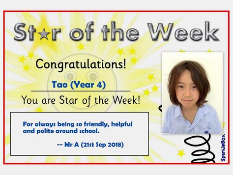 21st September 2018: Stars of the Week
