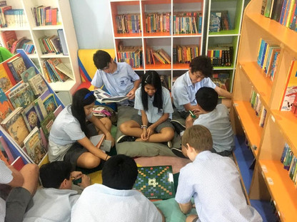 Library: fun haven for ISS students