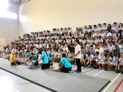 "A whole school ""get-together"""