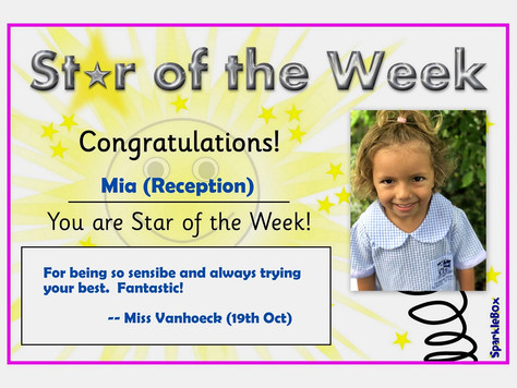 19th October 2018: Stars of the Week