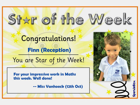 12th October 2018: Stars of the Week