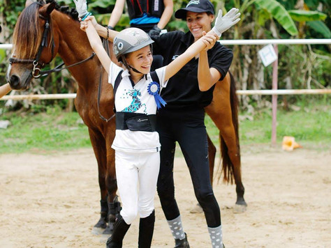 Here's a professional equestrian in the making
