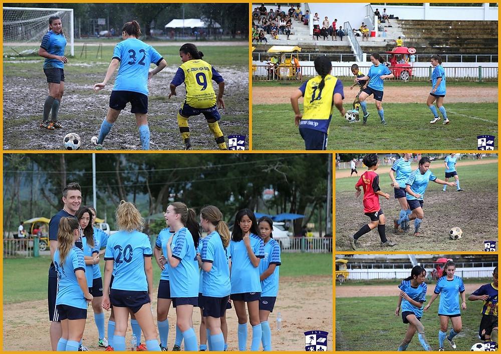 International School of Samui senior girls football team at Namuang Stadium, Koh Samui