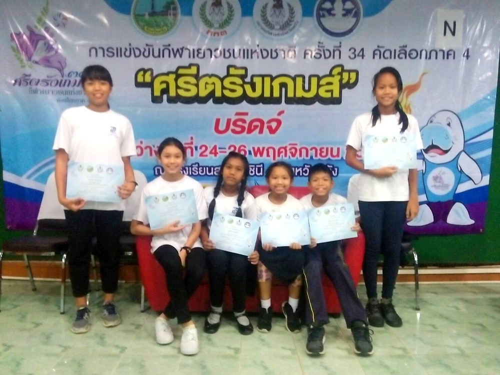 Bridge competition in Southern Thailand where International School of Samui students earned the second place.