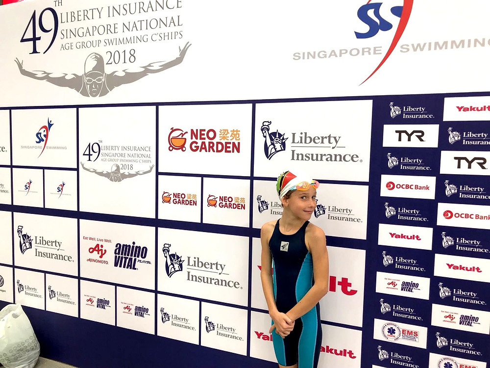 Taisiya, ISS Year 5 student, competing at the 49th Liberty Insurance Singapore National
