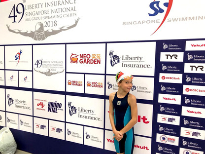 ISS swimmer makes a splash in Singapore