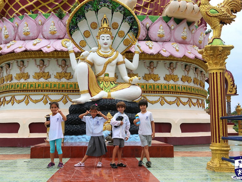 Year 2 visited Big Buddha to study the buildings & structures!