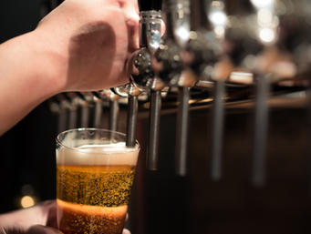 Beer on tap