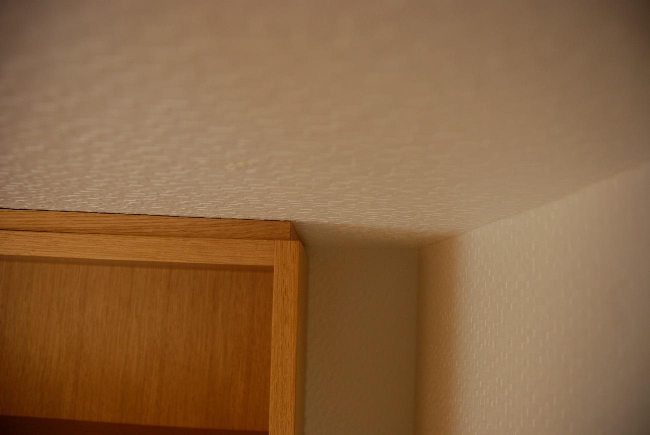 天井部です。 壁との若干の隙間を埋めることで美しく納まります。