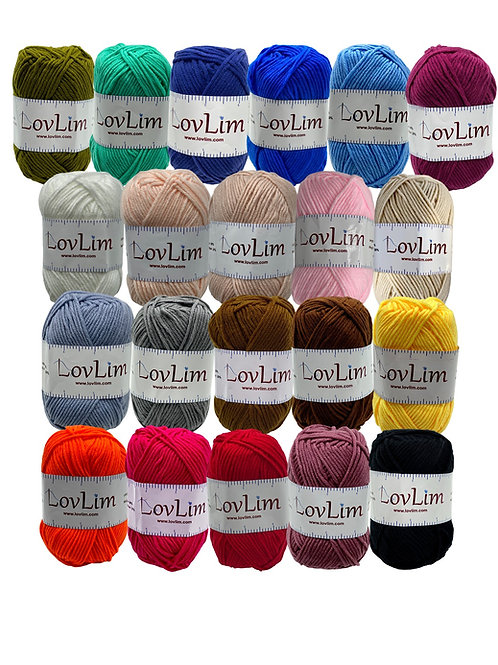 Soft Cotton Yarn Skeins for Crochet and Knitting
