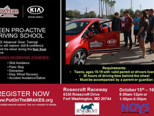 NOYS sponsors a FREE Teen Safe Driving Interactive Lab on October 17th