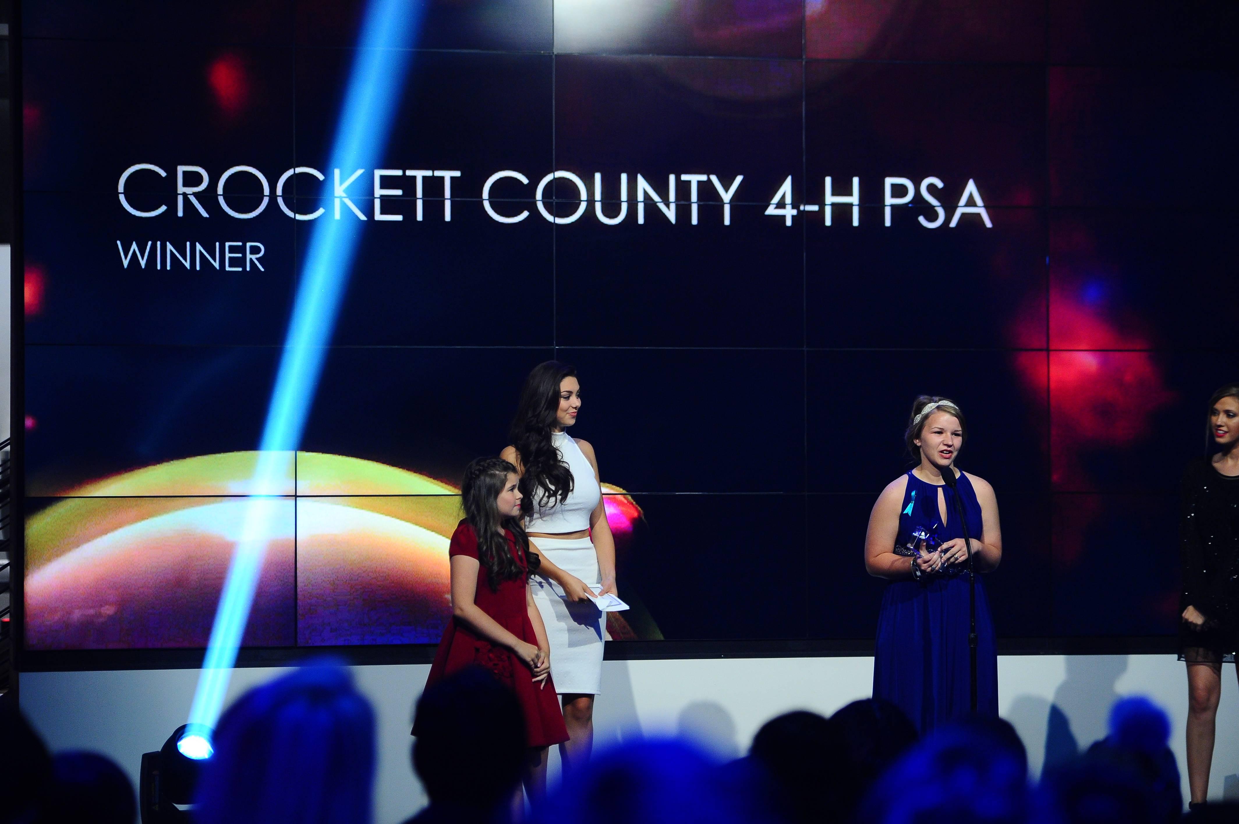Crocket County 4-H PSA Winner