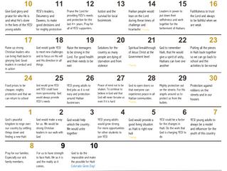 YES! Pray Calendar