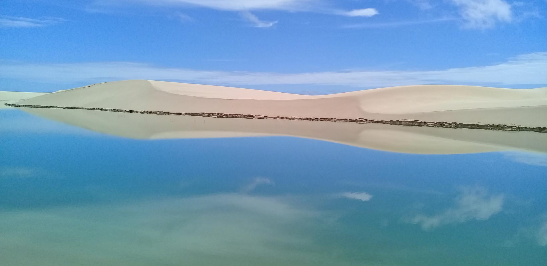 Lagoa na regiao de Atins Lençóis Maranhenses