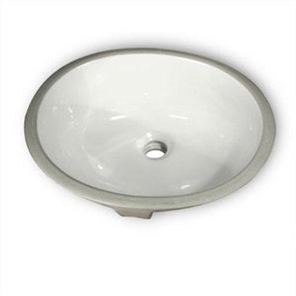 Vanity Oval Undermount Sink white porcelain