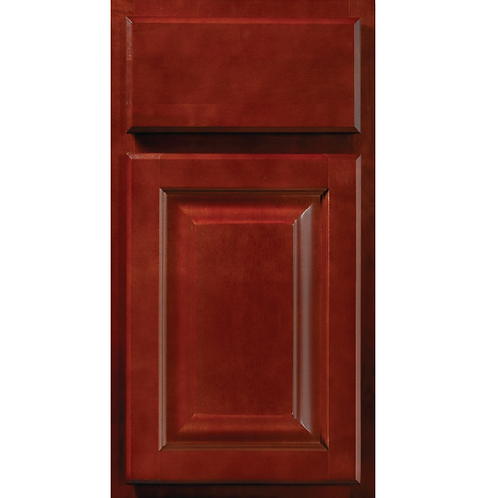 Saginaw Crimson dark red stained cabinet door