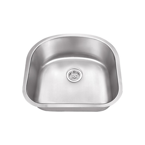 D shaped undermount sink