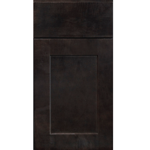 Dartmouth Dark Sable brown stained shaker cabinet
