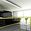 negro glossy black kitchen and lime green