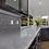 White Carrara marble kitchen countertop