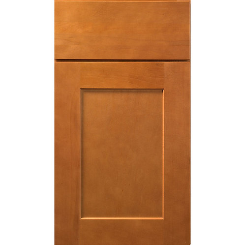 Dartmouth Honey light brown stained shaker cabinet