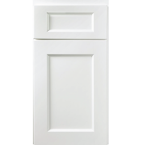 York White MDF Recessed painted cabinet door