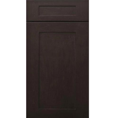 Pepper Shaker dark brown shaker style cabinet