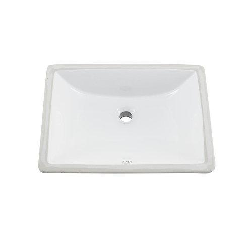 Vanity Square Undermount Sink white porcelain