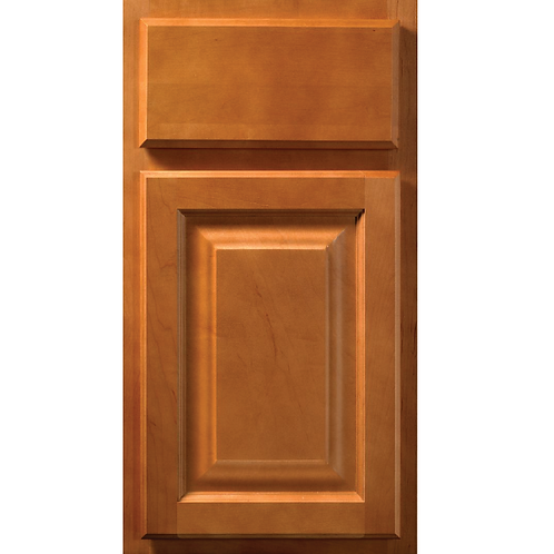 Saginaw Honey light brown stained cabinet