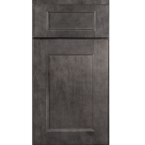 York Grey recessed center stained cabinet