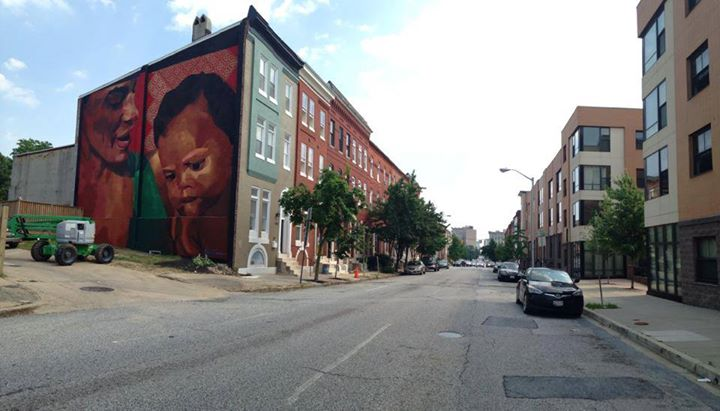 The Finished Mural Open Walls Baltimore