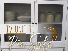 TV Unit dreams of becoming 'Vintage Pie Safe'