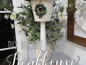 DIY Bucket Birdhouse